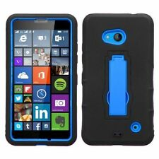 Silicone/Gel/Rubber Fitted Cases with Kickstand for Nokia Mobile Phones