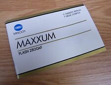Genuine Minolta Maxxum (9222-8821-68) Owners / Instruction Manual Flash 2800Af