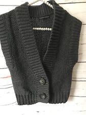 Banana Republic Cropped Sleeveless Sweater XS Cotton Wool Blend
