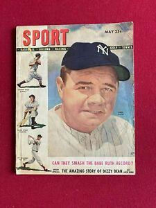 "1948, Babe Ruth, ""SPORT"" Magazine (No Label)  Scarce / Vintage"