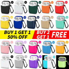 AirPods Silicone Case + Keychain Protective Durable Cover For AirPod Case 2 & 1