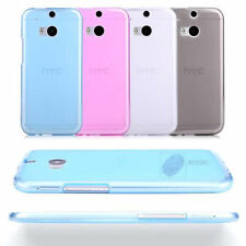 TPU Gel Silicone Soft Matte Jelly Grip Back Case Skin Cover For HTC Models