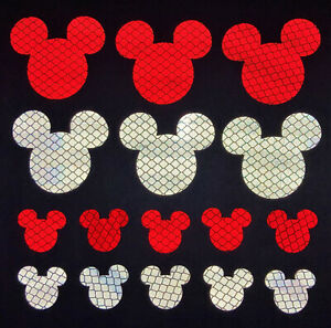 Mickey Mouse 3M Reflective Stickers Decals Reflector Pack for Car Bike Laptop