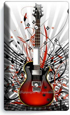 VINTAGE BLACK ELECTRIC GUITARS LIGHT SWITCH OUTLET WALL PLATE MUSIC STUDIO DECOR