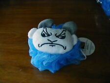 2 North Carolina Tarheels Officially Licensed Mascot Wear Bath Loofah NWT