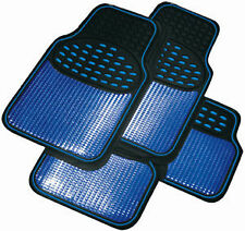 Heavy Duty Blue Rubber Winter Car Floor Mats for TOYOTA YARIS 5 DR TO 06 UBR