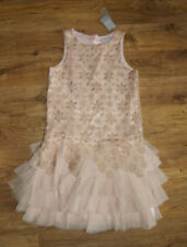 Gold brown cream powder pink elegant occasion dress for girl age 12 years