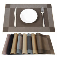 9 Colors PVC Non-slip Placemats Insulation Mat Coasters Bowl Dining Table Pad