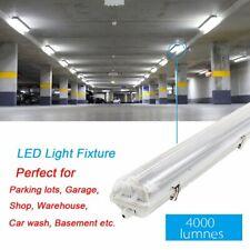 8Pack 4FT 36W T8 LED Waterproof Fixture Tube Utility Ceiling Shop Garage Lights