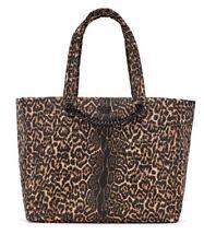 VICTORIA'S SECRET TOTE WEEKENDER Bag LEOPARD Cheetah PRINT Chain Python NEW