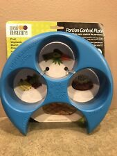 Meal Measure Portion Control on Your Plate Diet Weight Loss Healthy Tool Blue