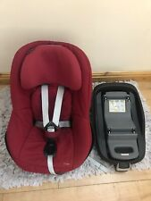 Maxi-Cosi Pearl Toddler Car Seat/ Group1, With Familyfix Isofix Base In Red