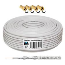 Kabel 135dB HQ HD Sat 15m Koaxial Koax CSS Stahl Kupfer Digital Antennen 4K TV