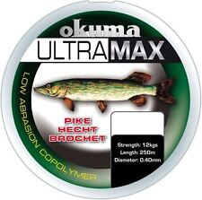 OKUMA Ultramax 57ml LUCIO 385m 26 LIBRAS 12kg 0.40mm GREEN LINE