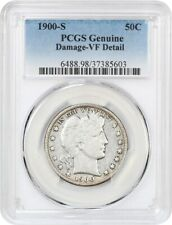 1900-S 50c PCGS VF Details (Damage) - Barber Half Dollar - Very Scarce Date