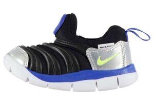 Nike Baby Kids Dynamo Free Shoe Black Yellow Grey Size 21 5C New