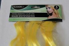 "3pc Volumising Clip On Hair Extensions Clips In Extension 14"" Blonde Brown Black"