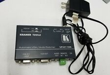 Kramer Tools Automatic VGA / Audio Switcher VP-211DS with Power Adapter 12v