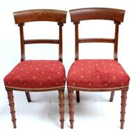 A Pair of Antique Oak Bar Back Chairs - FREE Shipping [PL5063]
