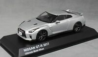 Kyosho Nissan GT-R R35 in Ultimate Silver Metallic 2017 03893S 1/43 NEW