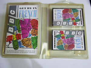 Get by in French BBC language course travel pack book/audio cassettes tapes 1992