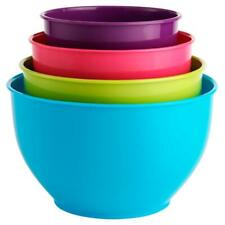 Multi Coloured 4 Piece Microwave Dishwasher Safe Baking Salad Mixing Bowls Set