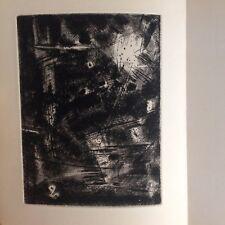 Jean Bertholle 1 point sèche /jean Lescure /d'une obscure clarté / 1966