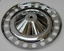 CLASSIC FIAT 500 SET OF 4 WHEEL HUB CAP WHEEL TRIM PLASTIC CHROMED BRAND NEW