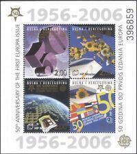 Bosnia Herzegovina 2005 Europa 50th/Sun Flowers/Flags/Maps/S-on-S 4v m/s  n34842