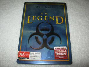 I Am Legend - Will Smith - 2 Disc Steel Case - VGC - DVD - R4