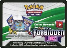 POKEMON TCG SM FORBIDDEN LIGHT : ONLINE VIRTUAL CODE CARD X 100