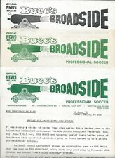 1976 Oakland Buccaneers ASL Soccer Press Releases (4) on Letterhead - NASL #FWIL