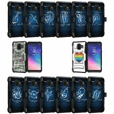 For Samsung Galaxy A6 | Galaxy A6 2018 Holster and Kickstand Case -Zodiac Design