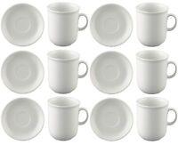 Thomas Trend Weiss Kaffee Becher Tasse 0,36-ltr. mit Untertasse 16cm 12tlg. NEU