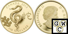 2013 Gold 'Year of the Snake' Proof $150 Coin 18K (13056)
