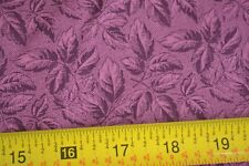 By 1/2 Yd, Purple Leaves on Plum Quilting Cotton, Cranston, N321