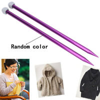 "2x Aluminium Straight Single Point Knitting Needles Tool Set - 35cm(14"") Length"