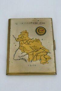 Vintage US Occupation Zone 1946 Map Cigarette Case