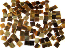 100 Brown/White Mosaic Tiles 1cm x 1cm Scrapbook Arts Crafts