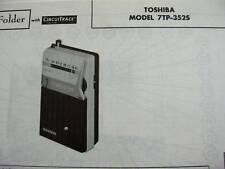 TOSHIBA 7TP-352S TRANSISTOR RADIO PHOTOFACT