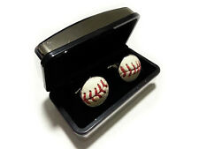Baseball Cufflinks - Cuff Links Made From a Real Baseball