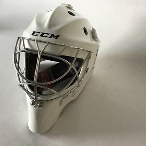 CCM 1.9 Non-Cert Cat-Eye Goalie Mask White SR LG -