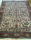 """8' x 10'5"""" Antique Herizz Tribal Hand-Knotted Wool Ivory Oriental Rug Cleaned"""