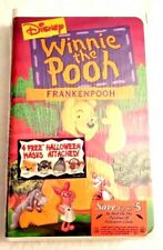 NEW Disney Winnie the Pooh FRANKENPOOH VHS - 4 Halloween Masks Included SEALED