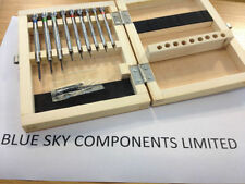 Juego De Destornilladores Relojeros Pro en Caja Madera Cuchillas de Repuesto herramienta de reparación de Reino Unido Stock
