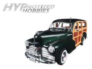 WELLY 1:24 N/B 1948 CHEVROLET WOODY FLEETMASTER DIE-CAST GREEN 22083