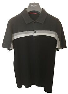 Mens uber chic PRADA short sleeve polo shirt. Size large/medium. RRP £210