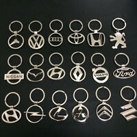 Car Logos 3D Chrome Titanium Metal Alloy Keyfob Keyring Keychain Key Chain Ring