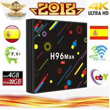Upgrade H96 Max H2 4GB/32GB Android 7.1 Smart TV Box Quad-Core 4K HD Dual Wifi