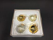 4x Moët Chandon Imperial Gold Glas Weihnachtskugeln Champagner Deko NEU OVP